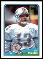 1988 Topps #190 Dan Marino NICE Miami Dolphins / Pitt Panthers