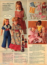 "1972 ADVERT 32"" Walking Doll Annette Black Doll Baby Zuri Kewpie Flip Wilson"