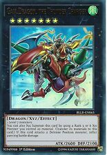 YU-GI-OH CARD: GAIA DRAGON, THE THUNDER CHARGER - ULTRA RARE -BLLR-EN065 -1st ED