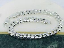 "SOLID 925 Sterling Silver Mens Dome Curb Link Bracelet 8.5"" - 6MM - 23.9G"
