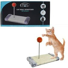 Cat Sisal Scratcher with Spring Ball Pet Toy