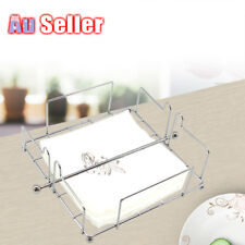 Chrome Wire Steel Napkin Dispenser Serviette Holder Rack Kitchen Home Dining