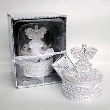 Bomboniera utile scatola angelo strass confezionata comunione cresima matrimonio