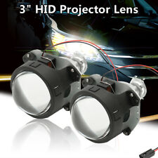 Pair 3'' Mini HID Bi-xenon Projector Halo Lens Shroud Headlight H4 H7 H1 RHD