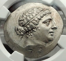 KYME AEOLIS 165BC Silver Greek Tetradrachm Coin NGC Certified AU Amazon i59094