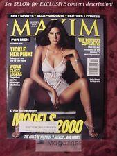 MAXIM #35 November 2000 Girls of VICTORIA's SECRET YAMILA JON STEWART