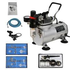 Beauty Salon Nail Art  3Airbrush System Dual Action Gun Air Compressor