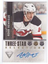 2013-14 Panini Titanium Three-Star Selections Adam Henrique Auto Autograph 07/50