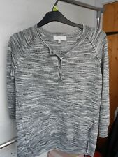 NEW LOOK LIGHT WEIGHT JUMPER BLUE & BLACK - SIZE UK 14