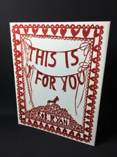 Rob Ryan signed First Edition book This Is For You hardback paper cut art