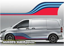 Mercedes Vito Martini 005 side racing stripes vinyl graphics stickers decals