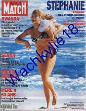 Paris Match n°2358 du 04/08/1994 Stéphane de Monaco Rwanda Senna Michel Berger