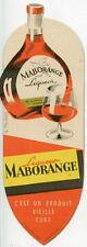 Marque Pages Publicitaire Liqueur Maborange
