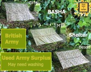BRITISH ARMY Basha Grade 1 USED camping hide shelter hiking tent Tarp Bushcraft