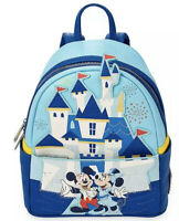 Mickey and Minnie Mouse Mini Backpack by Loungefly Disneyland 65th Anniversary