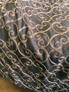 """Custom Drapery Panel 52"""" x 110"""" Lined, Interlined, Beautiful Embroidered Fabric"""