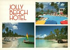 "Jolly Beach Hotel, Antigua West Indies, Caribbean, Pool - Large 5"" x 7"" Postcard"