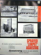 Armstrong Contracting SPRAYED LIMPET ASBESTOS Insulation Fireproofing Catalog