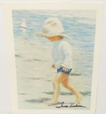 IVAN ANDERSON  BOY WALKING ON THE BEACH HAND SIGNED PRINT