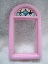 "FISHER PRICE Loving Family Dollhouse REPLACEMENT WINDOW ~ Pink & ""Stained Glass"""