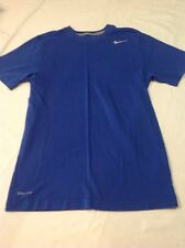 Mens Nike DriFit Cotton Short Sleeve Cotton Tshirt Blue Small EUC