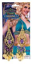 Gypsy Coin Earrings Egyptian Arabian Princess Jasmine Belly Dancer Fancy Dress