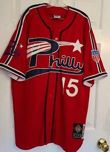 Vtg Philly Jersey Philadelphia Stars 2XL Negro League Baseball Museum Red #15