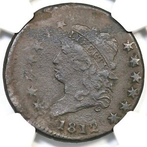 1812 NGC VF Details 15% Off Center Classic Head Large Cent Coin 1c