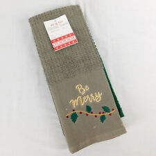 Holiday Kitchen Towels Set of Two Cotton  16 X 28