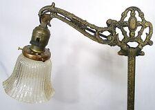 ANTIQUE ORIGINAL METAL ART RETICULATED BRONZE CELTIC BRIDGE FLOOR LAMP LIGHT