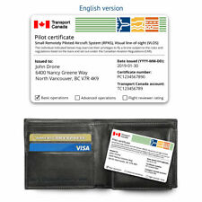 Transport Canada Drone Pilot Certificate - ID Card - English or French