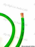 25 ' ft 4 Gauge AWG GREEN Power Ground Wire Sky High Car Audio GA feet