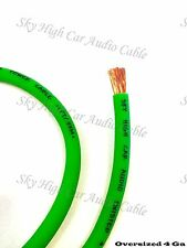 4 Gauge OFC AWG GREEN Power Ground Wire Sky High Car Audio By The Foot GA ft