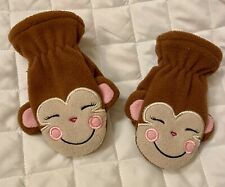 THE CHILDRENS PLACE BABY TODDLER 12-24 MONTHS MONKEY MITTENS