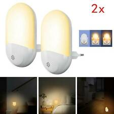2x Automatic LED Night Light Plug in Energy Saving Dusk Dawn Sensor Kids Light