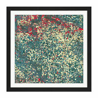 Abstract Little Squares Square Framed Wall Art 16X16 In