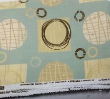 "Waverly Grand Central Upholstery Fabric 66""X54"" Retro Atomic Era Style"