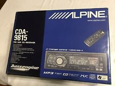NIB ALPINE CDA-9815 FM/AM CD RECEIVER MP3 WMA V-DRIVE 60W x 4 AMPLIFIER
