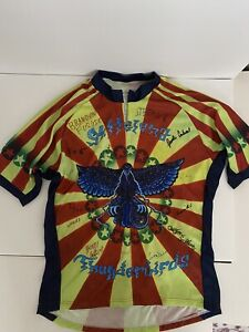 Napabikewear Large Cycling Jersey Stllelena Thunderbirds 3 Back Pockets 3/4 Zip