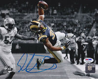 Todd Gurley Signed 8x10 St. Louis Rams Photo - Jump Spotlight Lions PSA/DNA COA