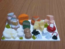 DOLLS HOUSE MINIATURE DISPLAY SLAB OF CHEESES GREAT FOR A DELI SHOP SCENE 1/12TH