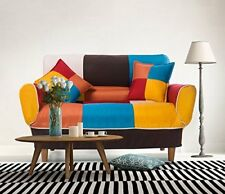 Adjustable Sofa And Loveseat In Colorful Line Fabric Home Furniture Fold