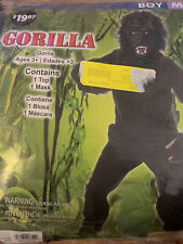 Kids Gorilla Costume Boys Black Seasons M (8)