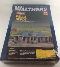 Walthers Cornerstone Pella Depot HO Kit Railroad Train Station 4054 New, Sealed!
