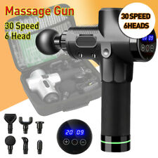 Lcd Massage Gun 30 Speed Deep Tissue Muscle Percussion Massager Vibrating Relax