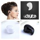 Black/White Mini Wireless Bluetooth Stereo In-Ear Earphone Headphone Headset