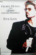 WHAM GEORGE MICHAEL QUEEN LISA STANSFIELD FIVE LIVE 1993 VINTAGE PROMO POSTER