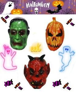 Halloween mask spooky face mask fancy dress up costume childrens trick or treat