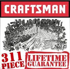 Craftsman 311 Pc Mechanics Tool Set Universal SAE Metric Ratchet Socket Kit Case