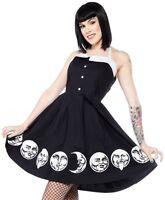 Sourpuss Spooksville Moon Faces Punk Tattoo Emo Goth Rocker Dress SPDR291